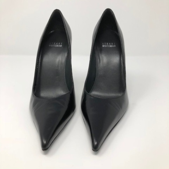 b97ede1582 Stuart Weitzman Classic Black Leather Pointed Toe.  M_5ad642438df470421da6383c